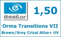 Orma Transitions VII Brown/Grey Crizal Alize+ UV