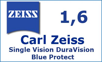 Carl Zeiss Single Vision 1.6 DuraVision Blue Protect