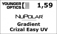 NuPolar 1,59 Gradient Crizal Easy UV